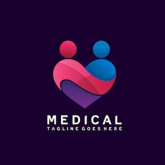 Сердце медицинский дизайн логотипа