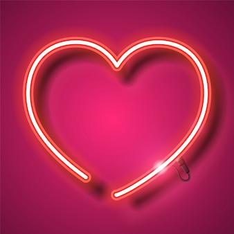 Heart neon banner