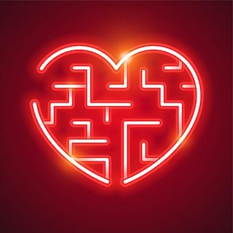 Сердце неоновый дизайн