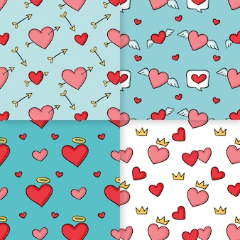 Heart pattern collection theme