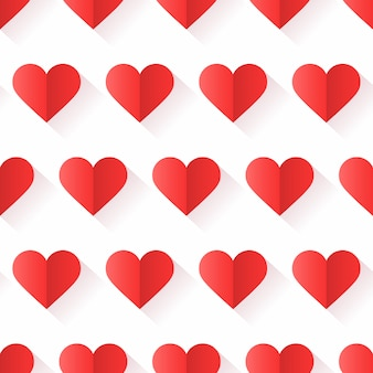 Heart pattern with creative shape in geometric style.
