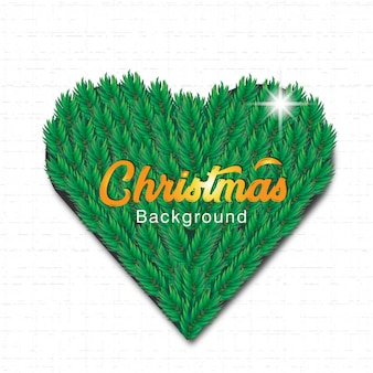 Heart pine christmas background