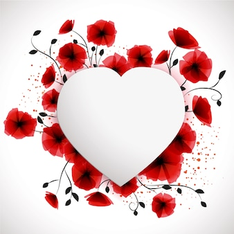 Heart poppies