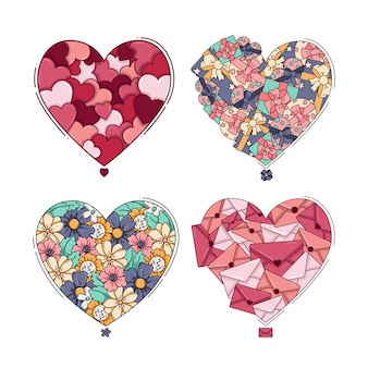 Heart postcard collection