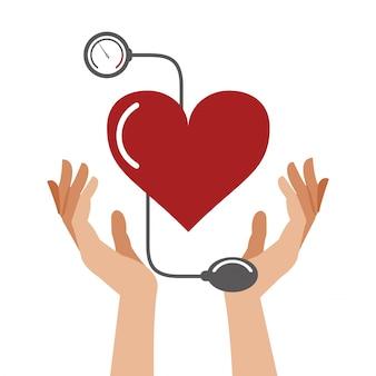 心臓の圧力のヘルスケアのシンボル