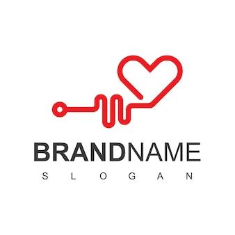 Heart pulse health care logo