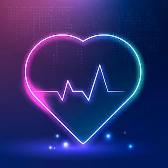 Значок пульса сердца для медицинских технологий