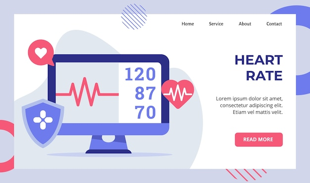 Heart rate beat monitor electrocardiogram campaign