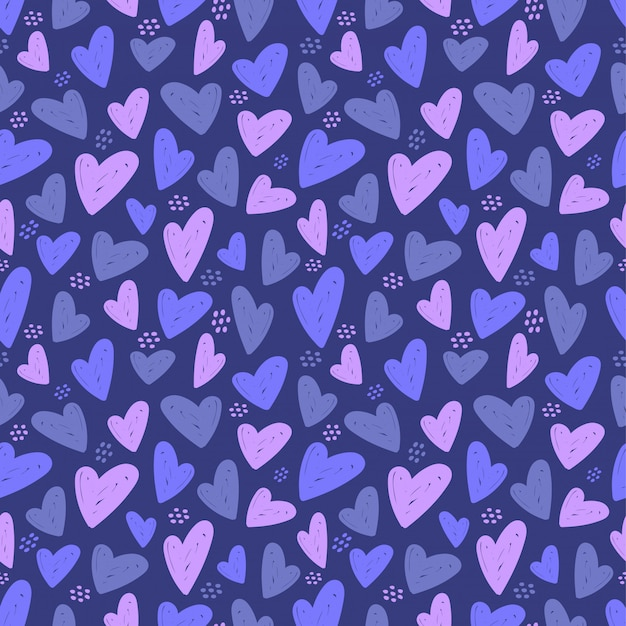 Heart seamless pattern. vector love illustration.