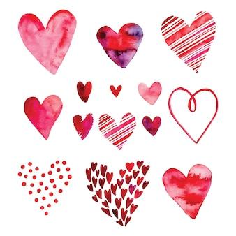 Сердце набор, векторные иконки для вашего дизайна. может быть использован для свадебного приглашения, открытки на день святого валентина или открытки о любви.