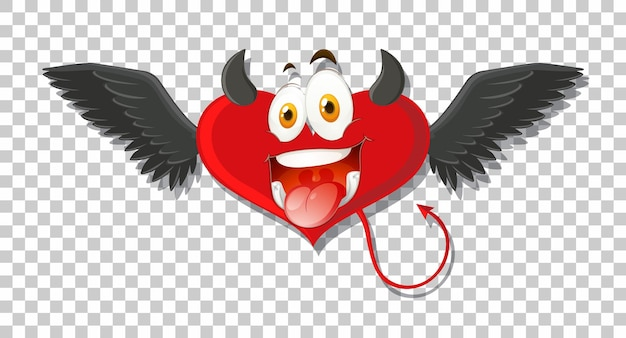 表情のあるハート型の悪魔