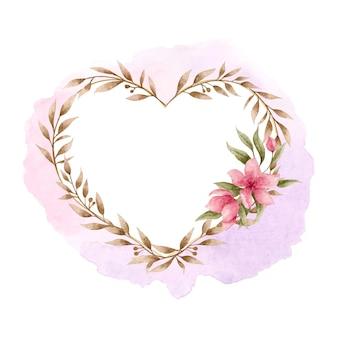 하트 모양 꽃 프레임