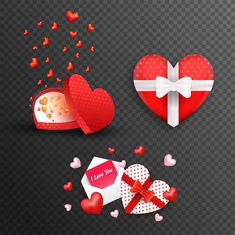 Heart shape gift boxes.