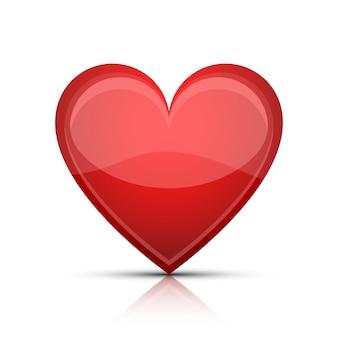 白い背景の上の心臓形状図