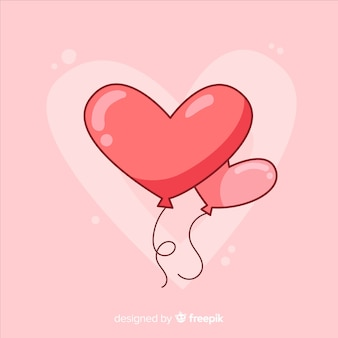 Heart shaped balloon background
