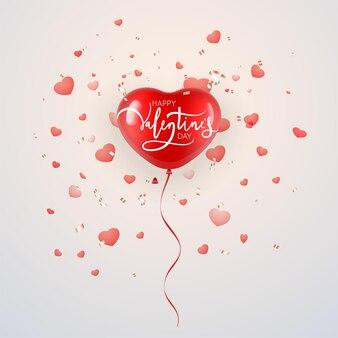 バレンタインデーのデザインのためのハート型の風船。