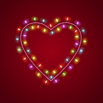 Heart shaped garland lights