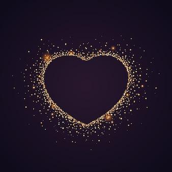 하트 모양의 반짝이. 발렌타인 데이 배경