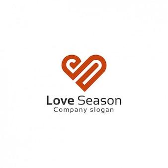 Heart shaped logo template