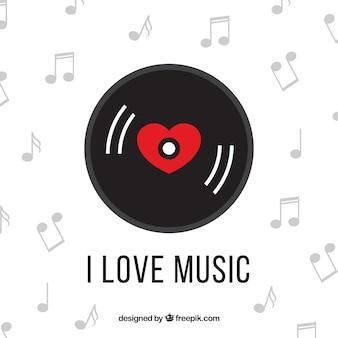Heart shaped vinyl record
