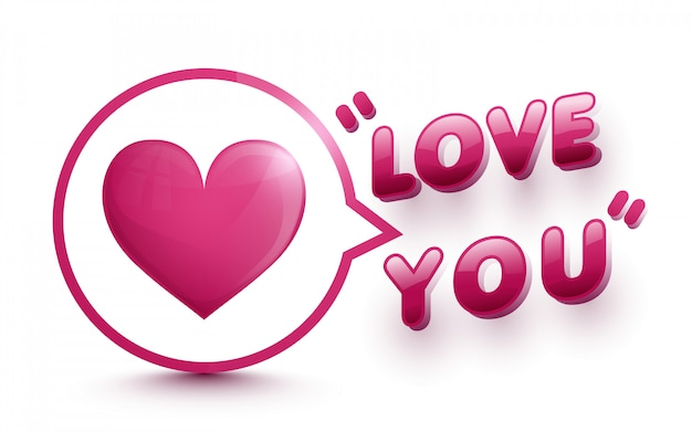 Heart in speech bubbles icon