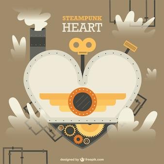 Heart in steampunk design