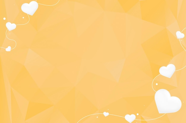 심장 문자열 테두리 노란색 배경