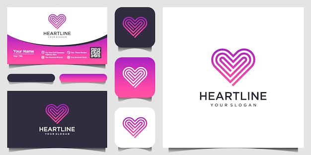 Heart symbol  icon  template elements. health care logotype concept. dating logo icon.  template. business card