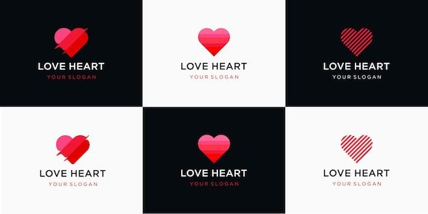 Логотип шаблона символа сердца
