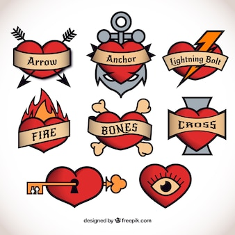 Heart tattoo collection