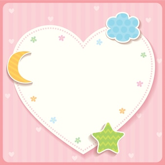 Heart template pink.