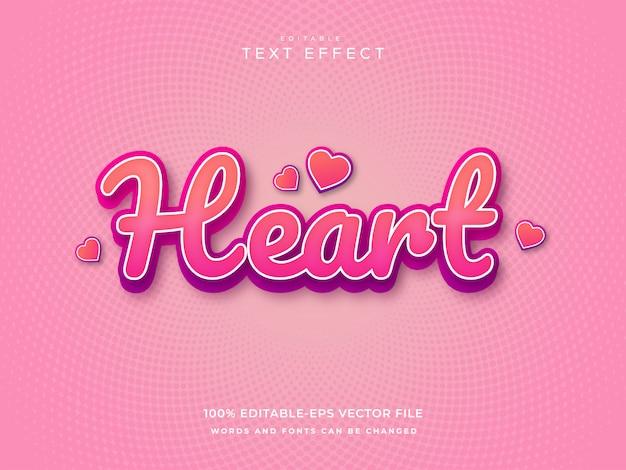 Heart text effect
