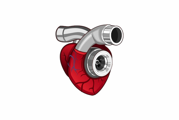 Сердце турбо логотип
