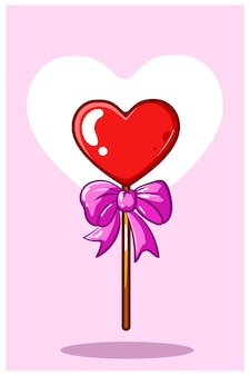 Сердце валентина конфеты каваи карикатура иллюстрации