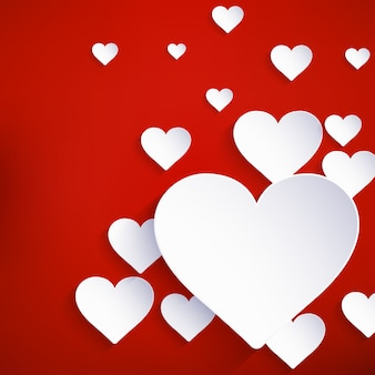 Heart for valentines day background.