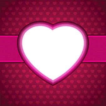 心のバレンタインの日カードのベクトルの背景。