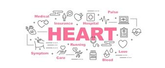 Heart vector banner