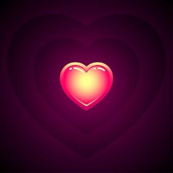 Heart wave vector image