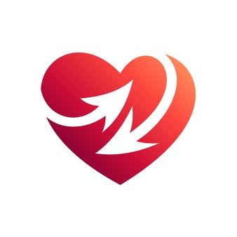 Сердце со стрелой логотип