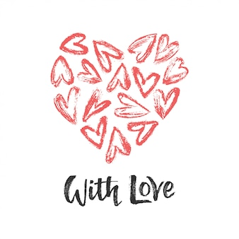 Heart with heart and with love
