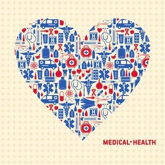 Sfondo di cuore medica vettore