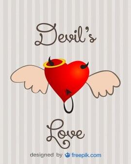 Зло концепция любви вектор дизайн