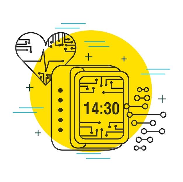 Heartbeat digital clock