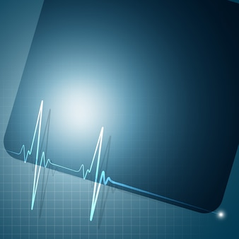 Heartbeat graph background