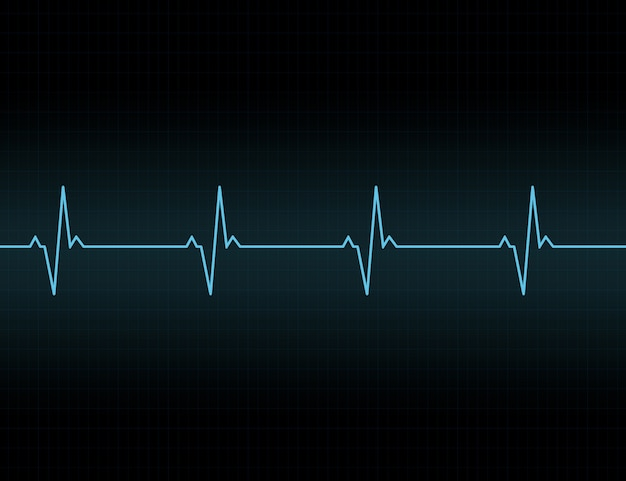 Heartbeat line background icon.
