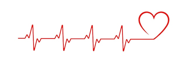 Сердцебиение линии сердца кардио вектор значок