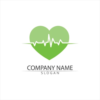 Heartbeat, medical logo template