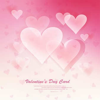 Hearts on abstract love background be my valentine