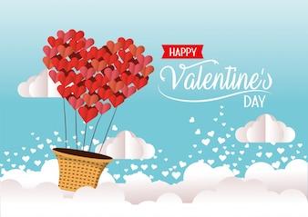 Воздушный шар сердца на праздник Валентина