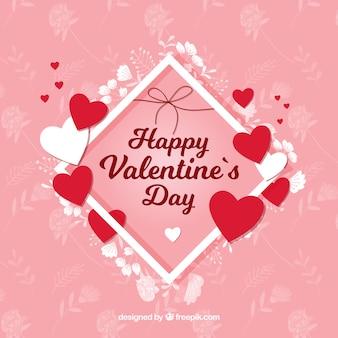 Сердца и цветы валентина фон